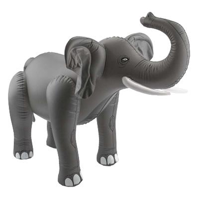 Uppblåsbar Elefant Grå