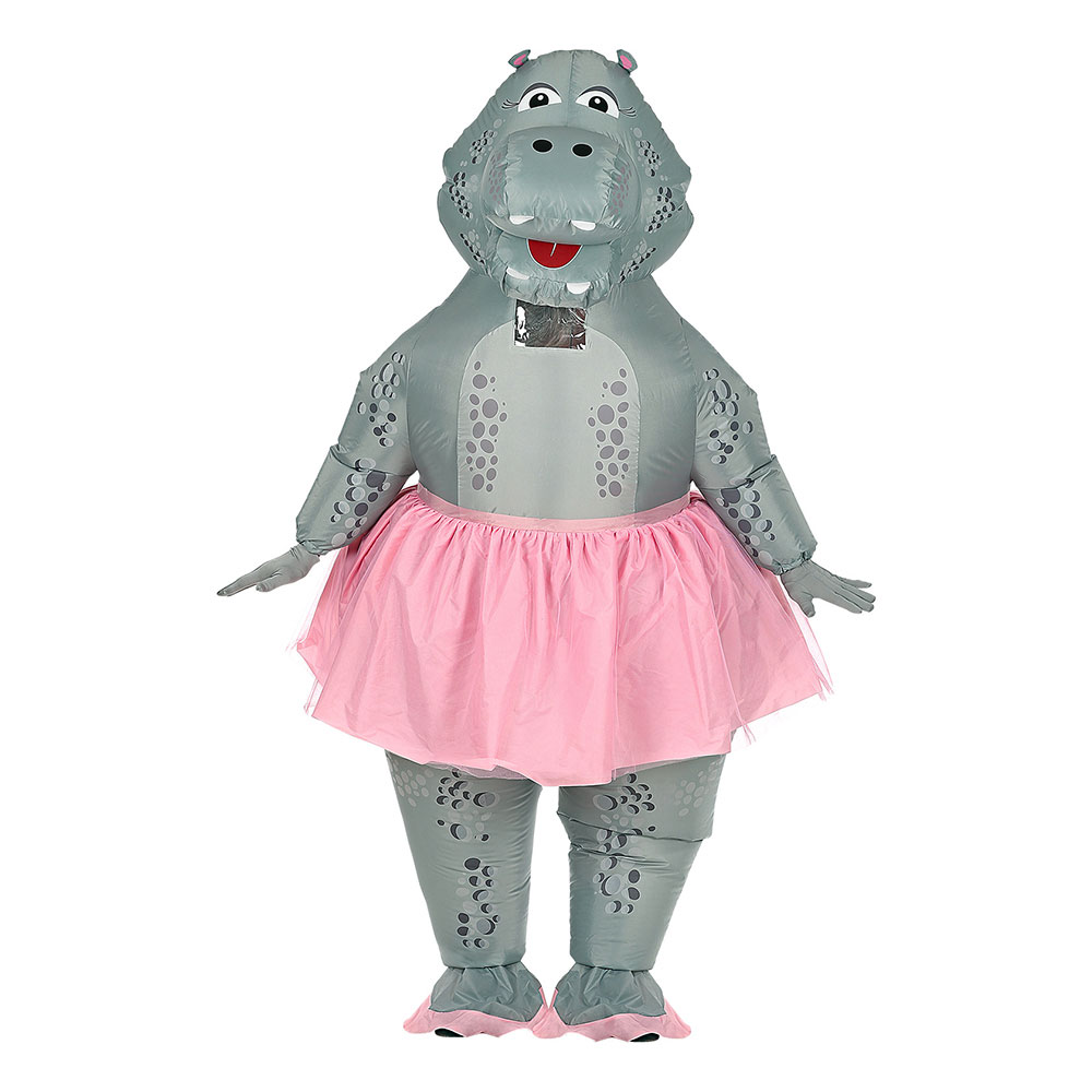 Uppblåsbar Flodhäst Ballerina Maskeraddräkt - One size