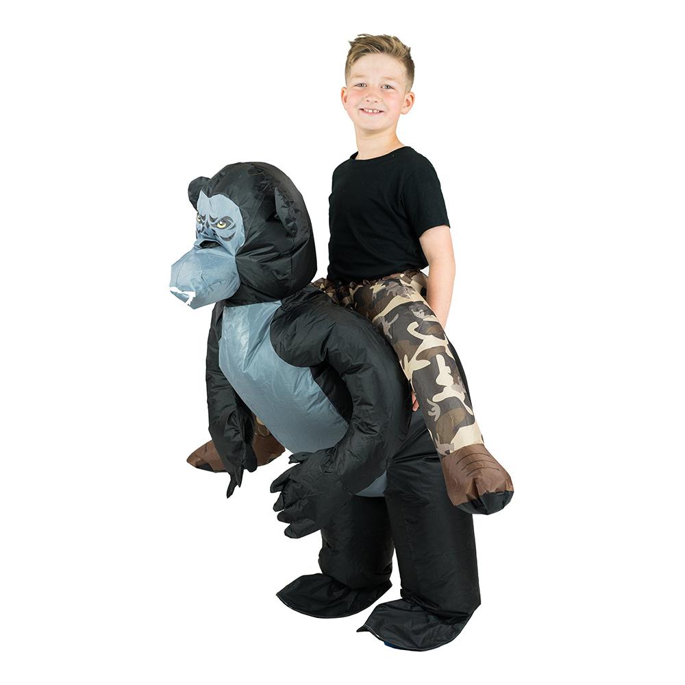 Uppblåsbar Gorilla Barn Maskeraddräkt - One size