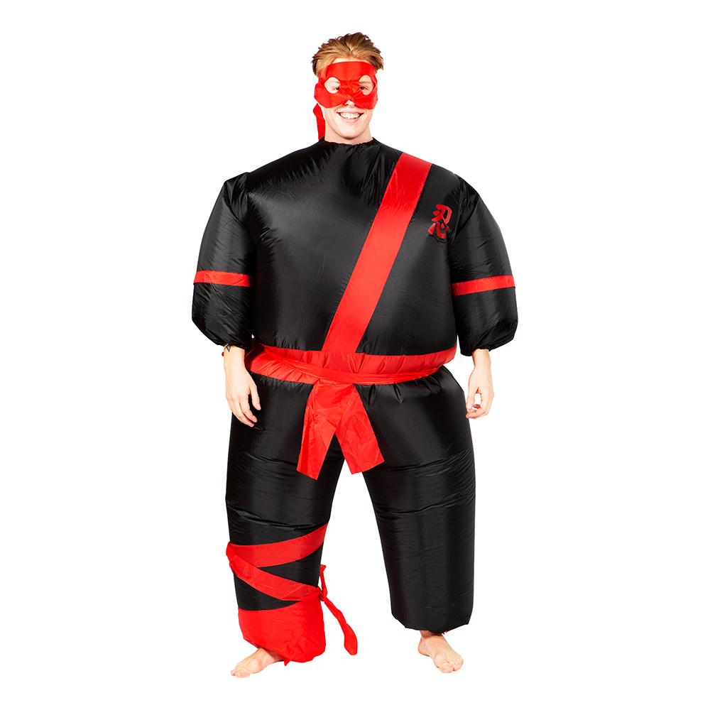Uppblåsbar Ninja Maskeraddräkt - One size