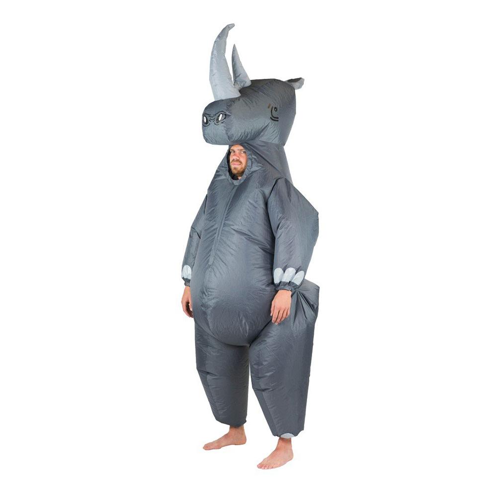 Uppblåsbar Noshörning Maskeraddräkt - One size