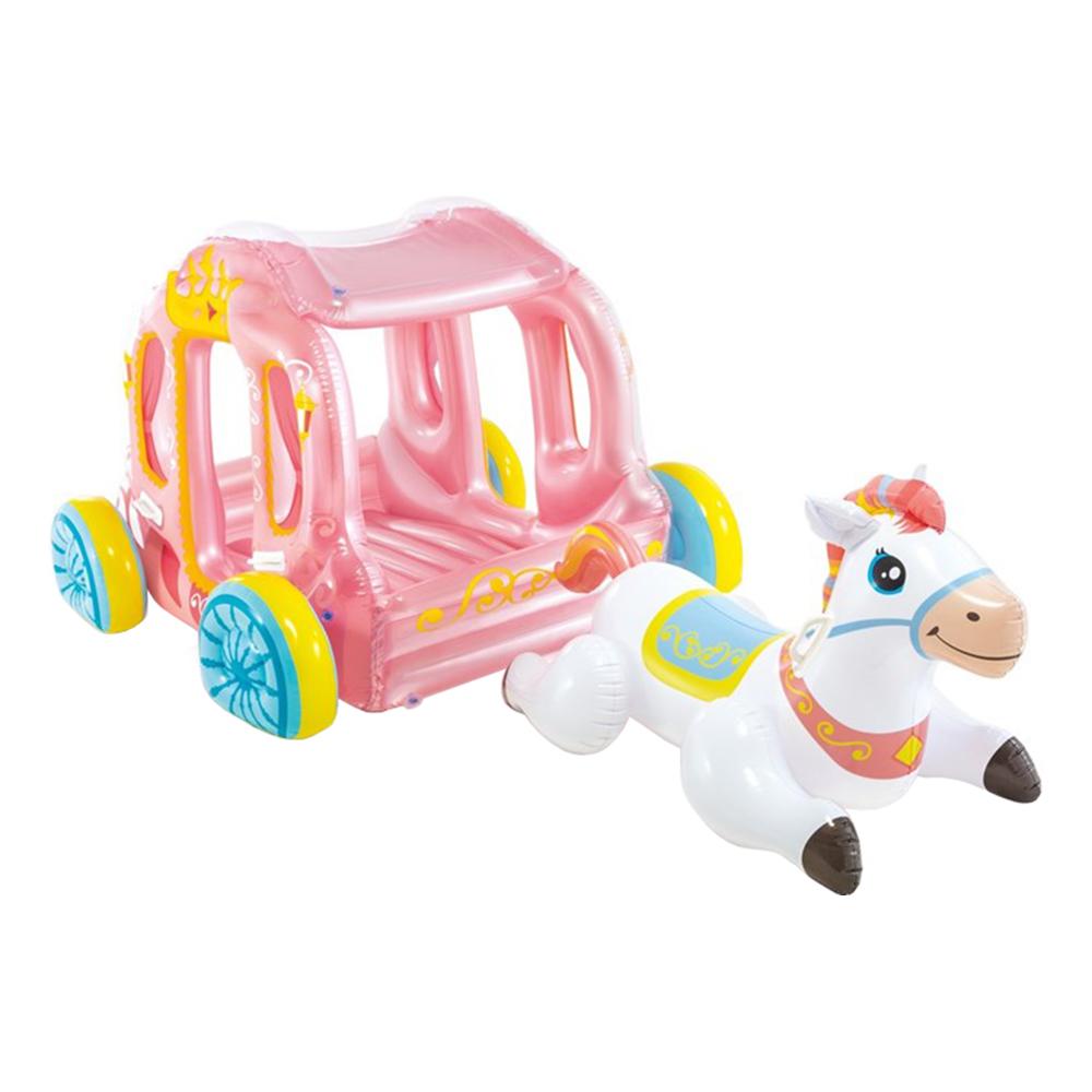 Uppblåsbar Prinsessvagn med Häst