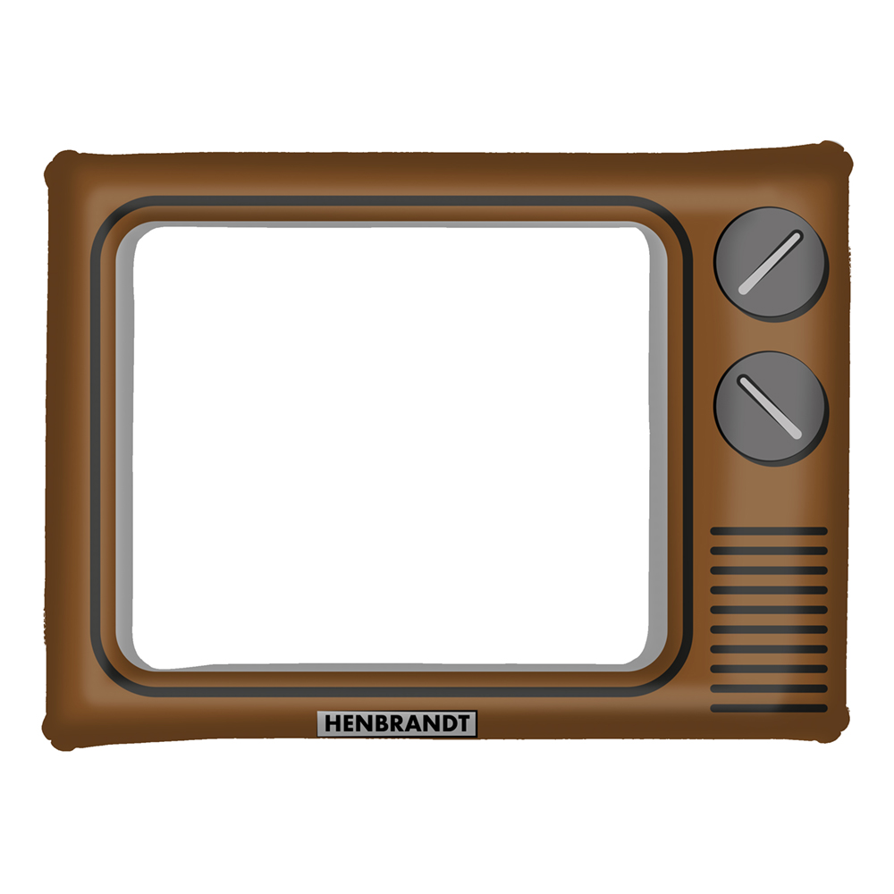 Uppblåsbar Ram Retro TV