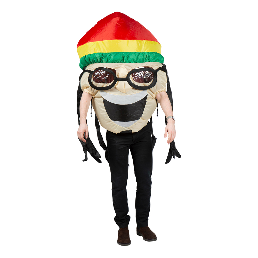 Uppblåsbar Rastafari Maskeraddräkt - One size