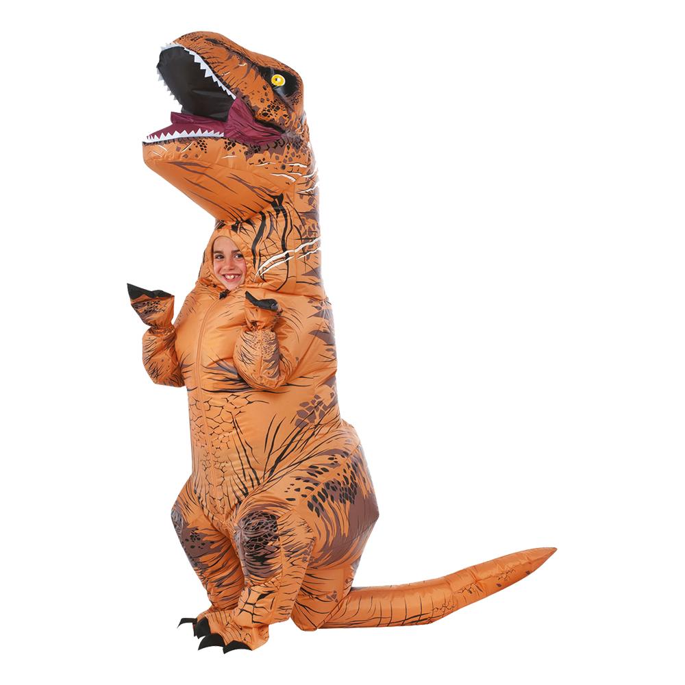 Dinosauriedräkter - Uppblåsbar T-rex Barn Maskeraddräkt - One size