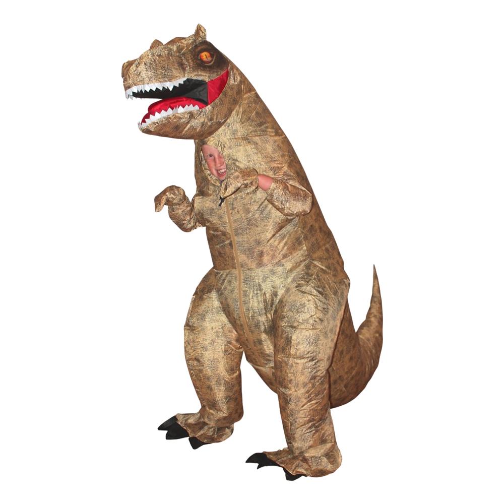 Uppblåsbar T-Rex Dinosaurie Barn Maskeraddräkt - One size