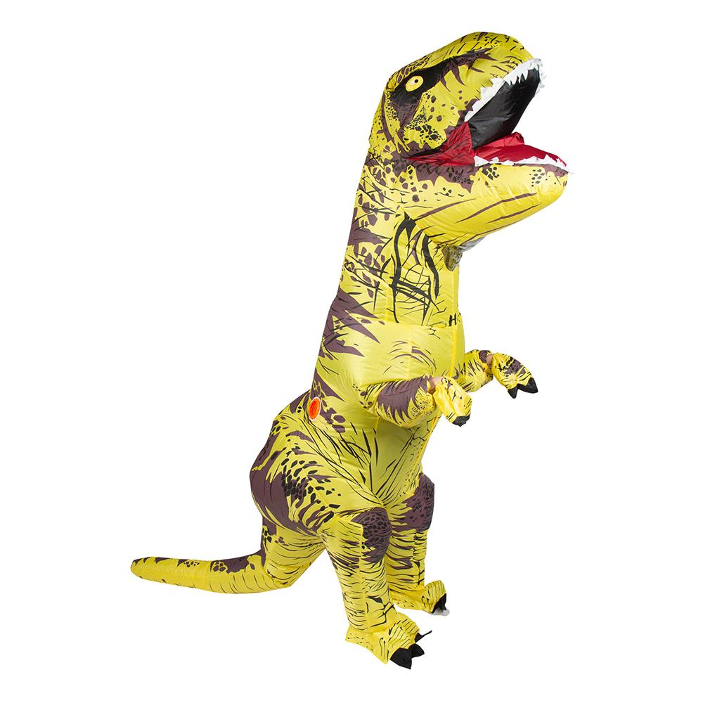 Uppblåsbar T-Rex Gul Maskeraddräkt - One size