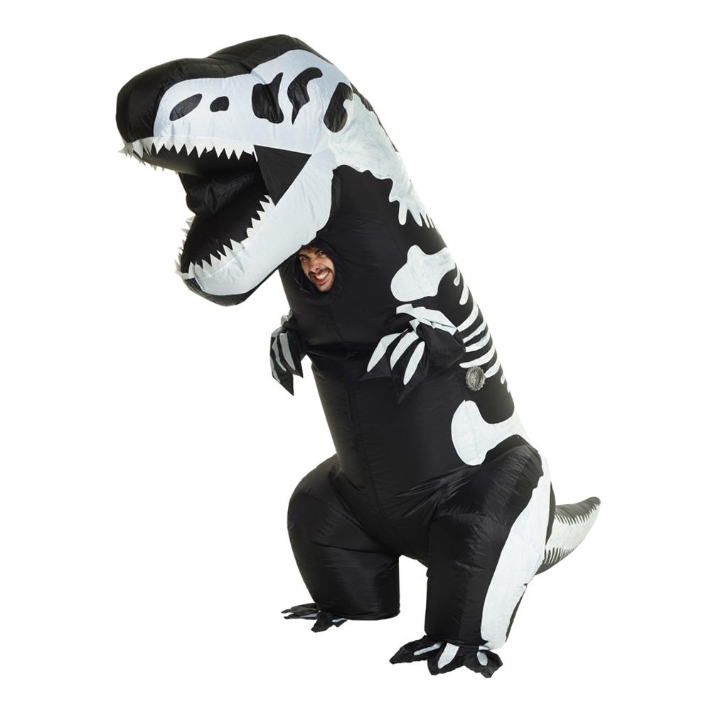 Uppblåsbar T-Rex Skelett Maskeraddräkt - One size
