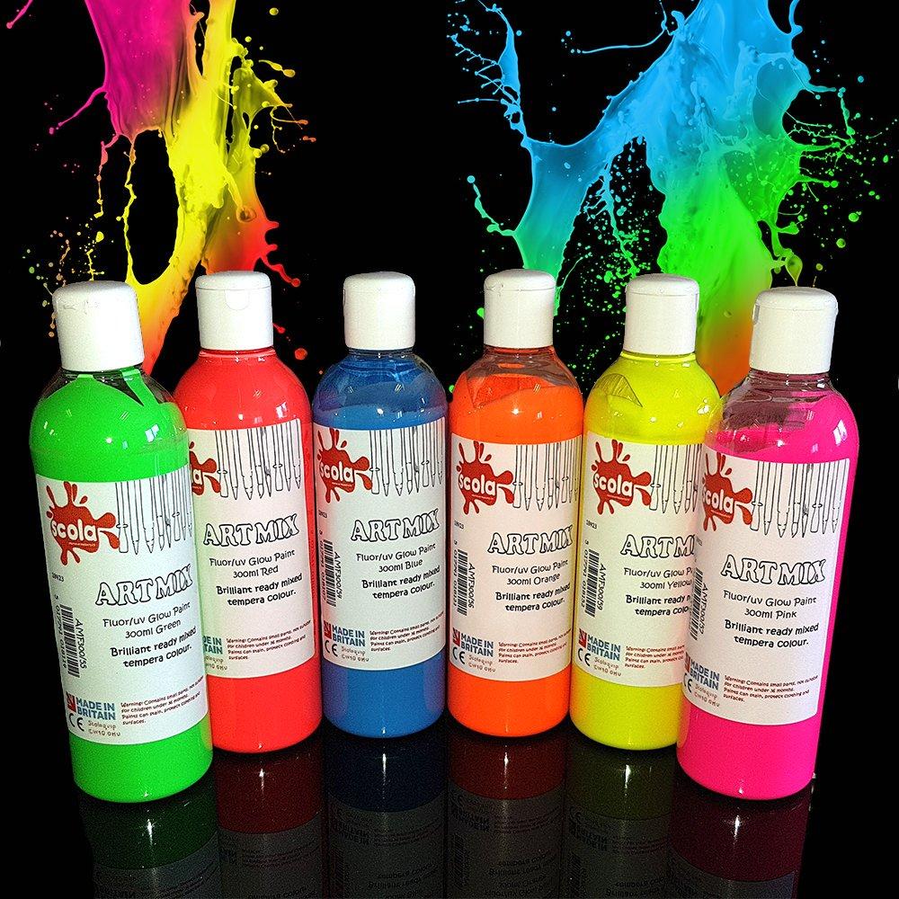 UV Neon Affischfärg - 6-pack