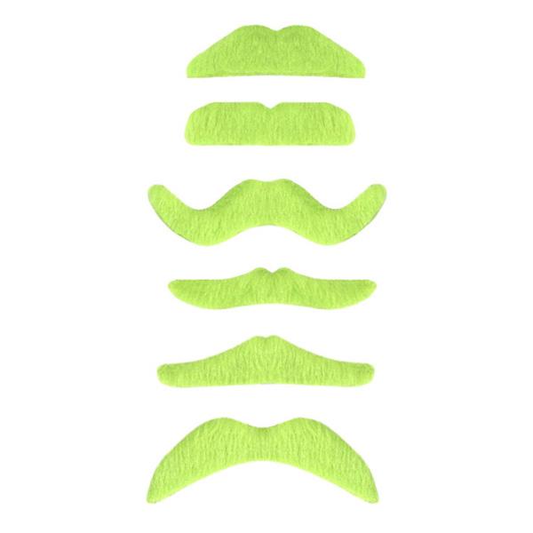 UV Neon Grön Mustasch