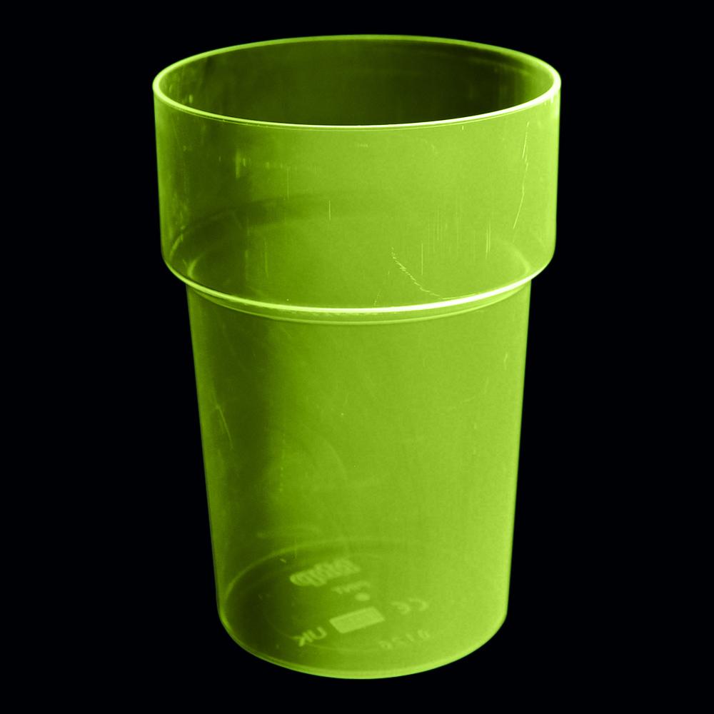UV Neon Ölglas - 4-pack Gul