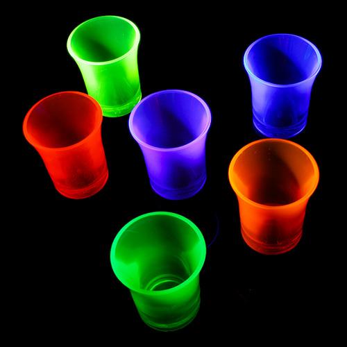 UV Neon Shotglas - 24-pack (Blandade färger)