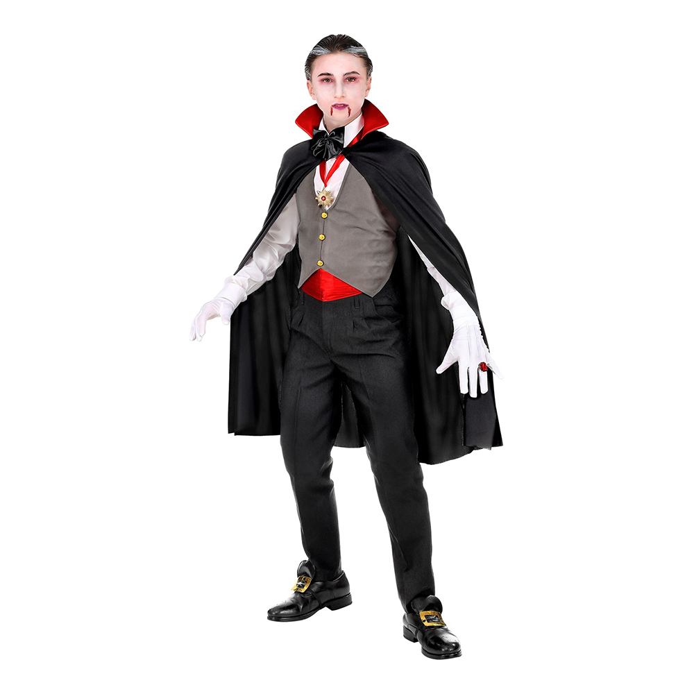 Välklädd Vampyr Barn Maskeraddräkt - Small