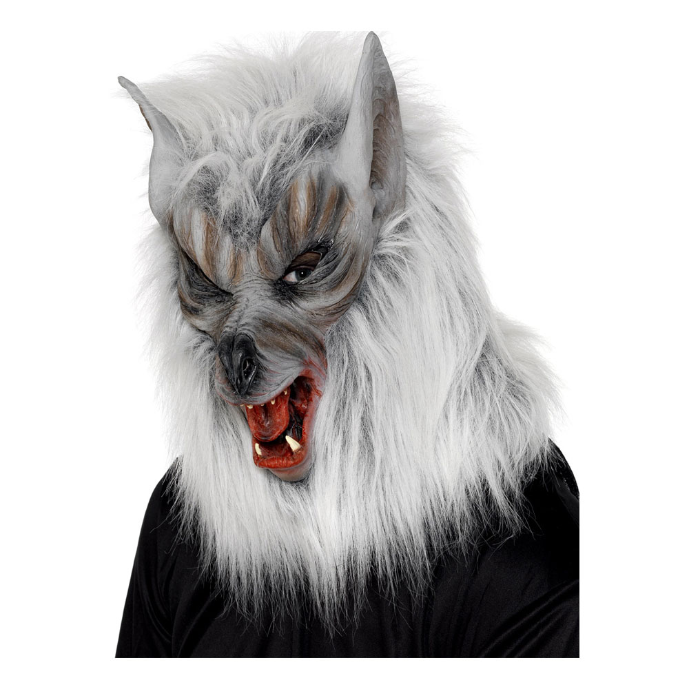 Djurmasker - Vargmask med Päls - One size
