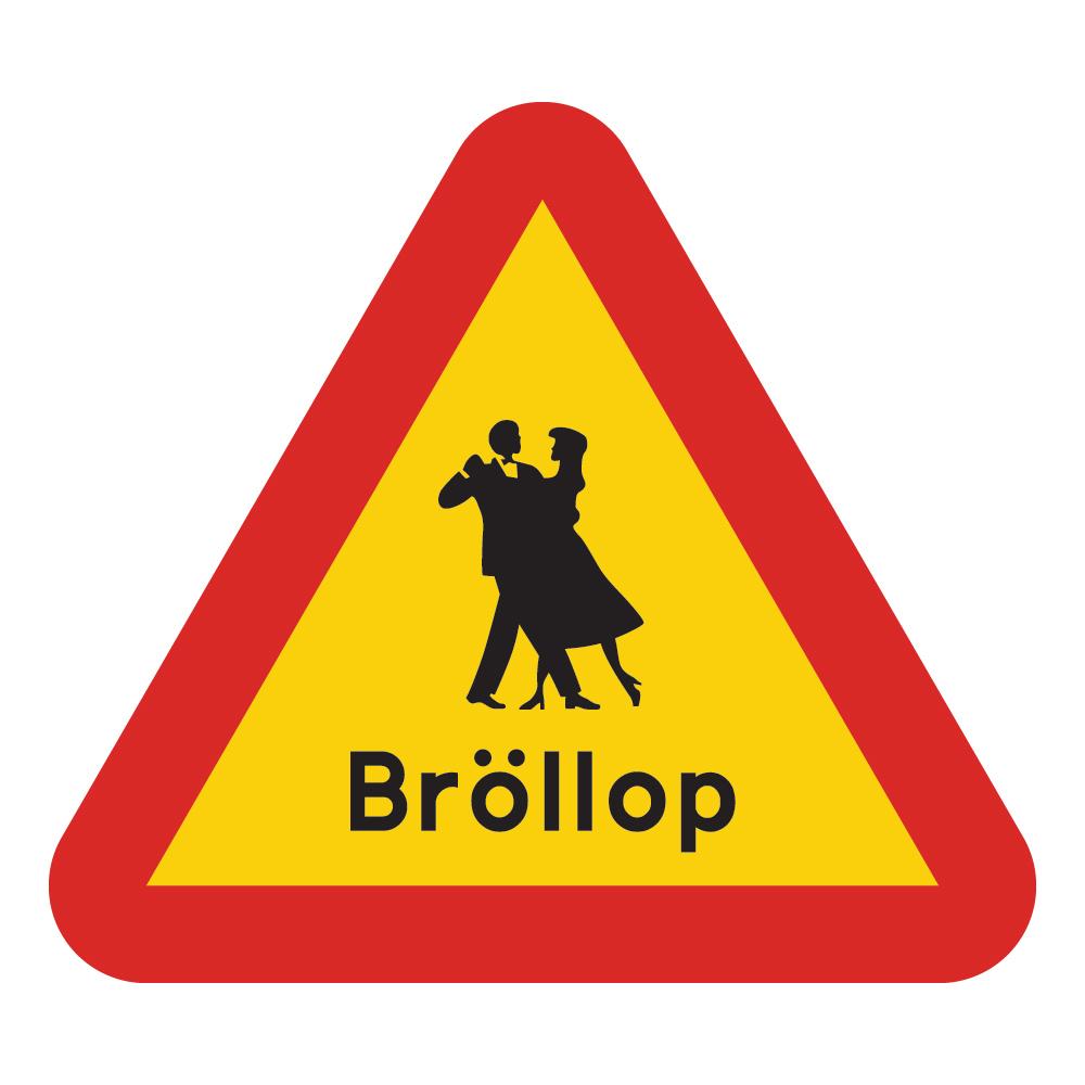 Varningsskylt Bröllop