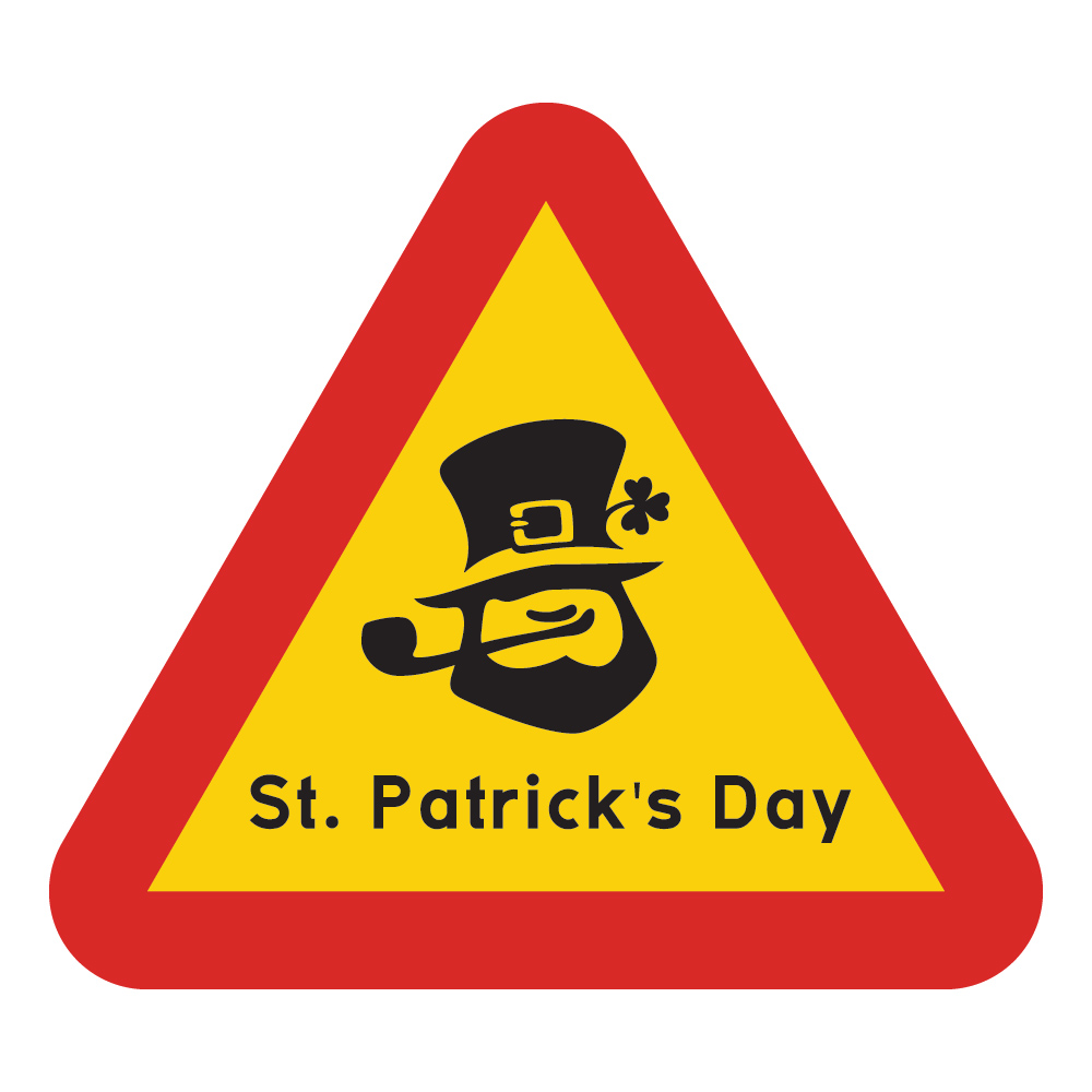 Varningsskylt St. Patrick's Day