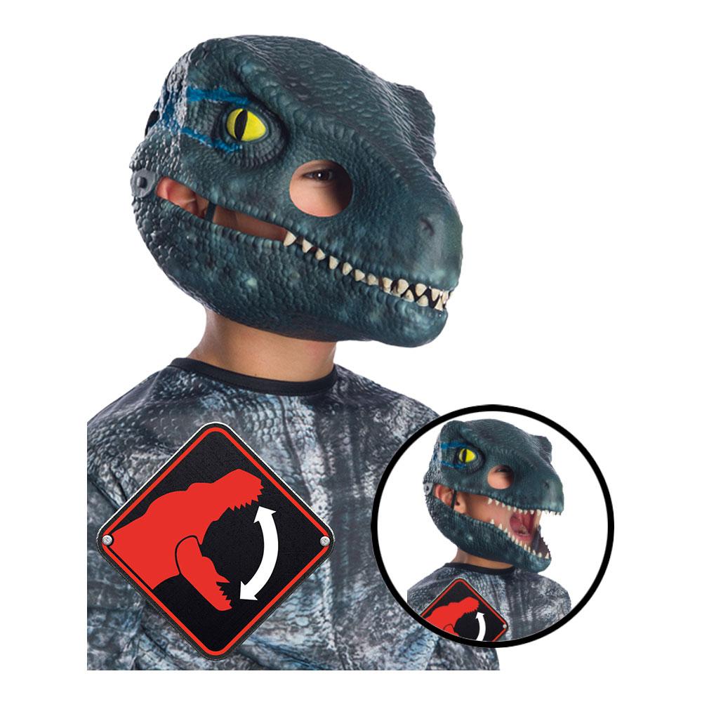 Velociraptor Mask för Barn med Rörlig Mun - One size