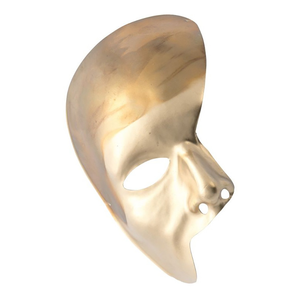 Venetiansk Halvmask Guld - One size