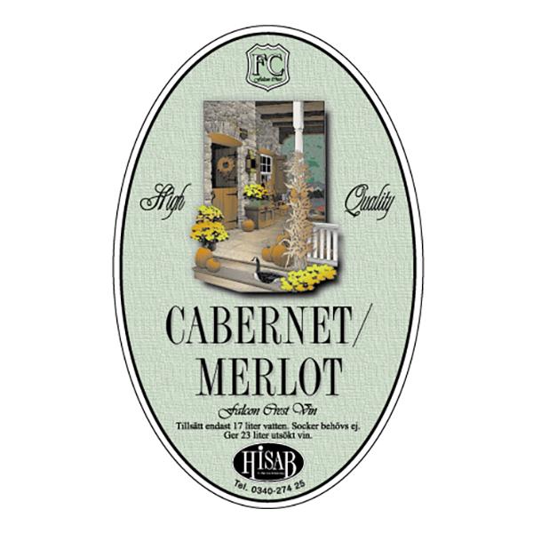 Vinetiketter Cabernet/Merlot - 25-pack