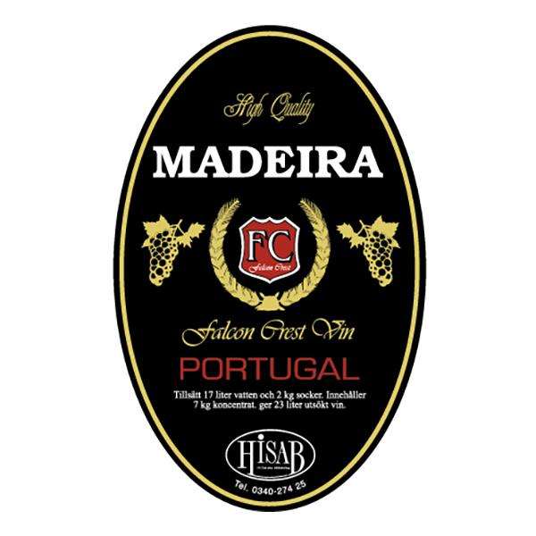Vinetiketter Madeira - 25-pack