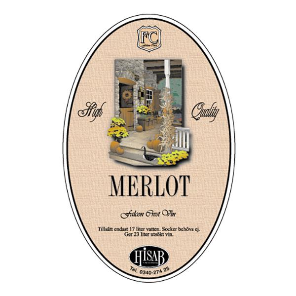 Vinetiketter Merlot - 25-pack