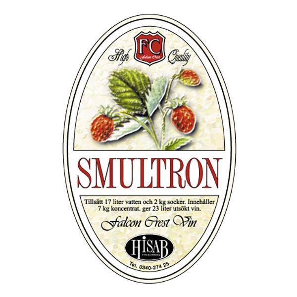 Vinetiketter Smultron - 25-pack