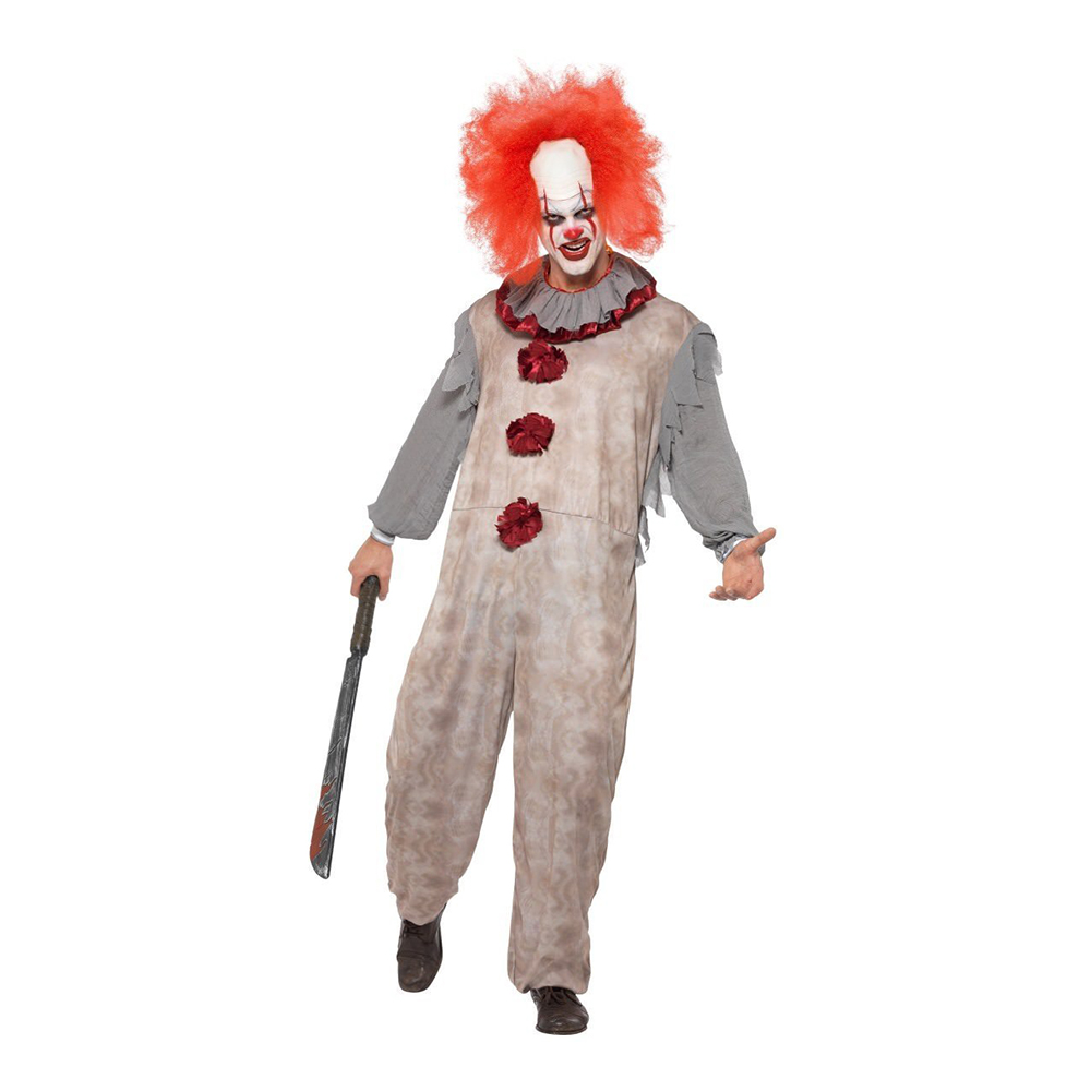 Vintage Clown Maskeraddräkt - Medium