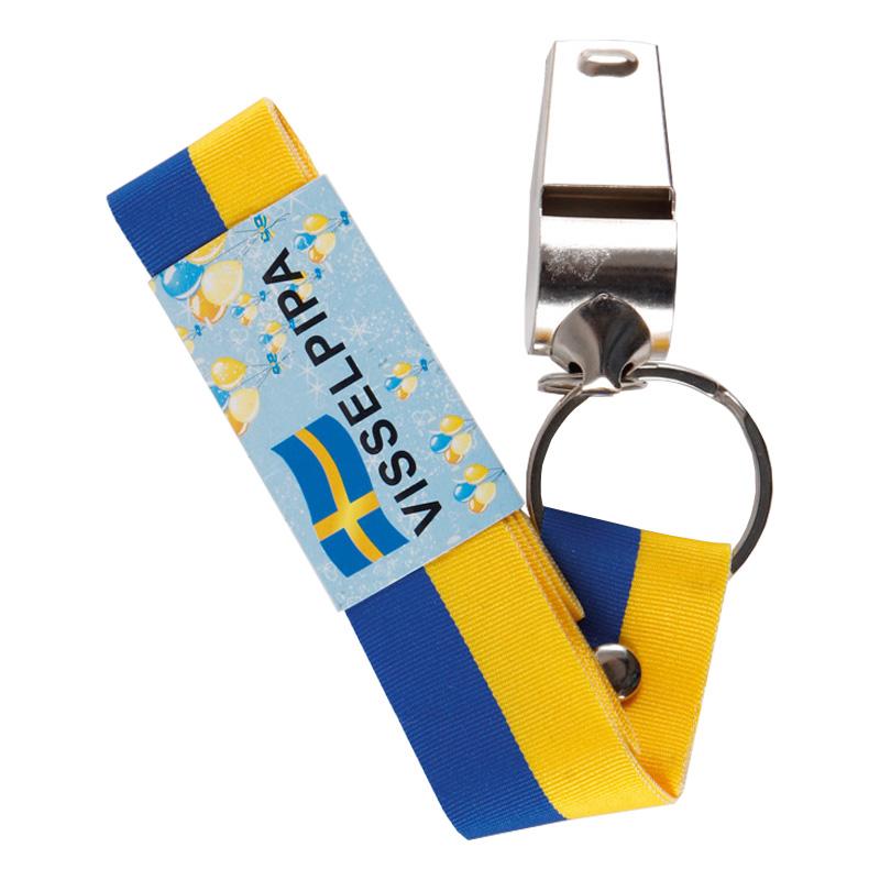 Visselpipa med Sverigeband