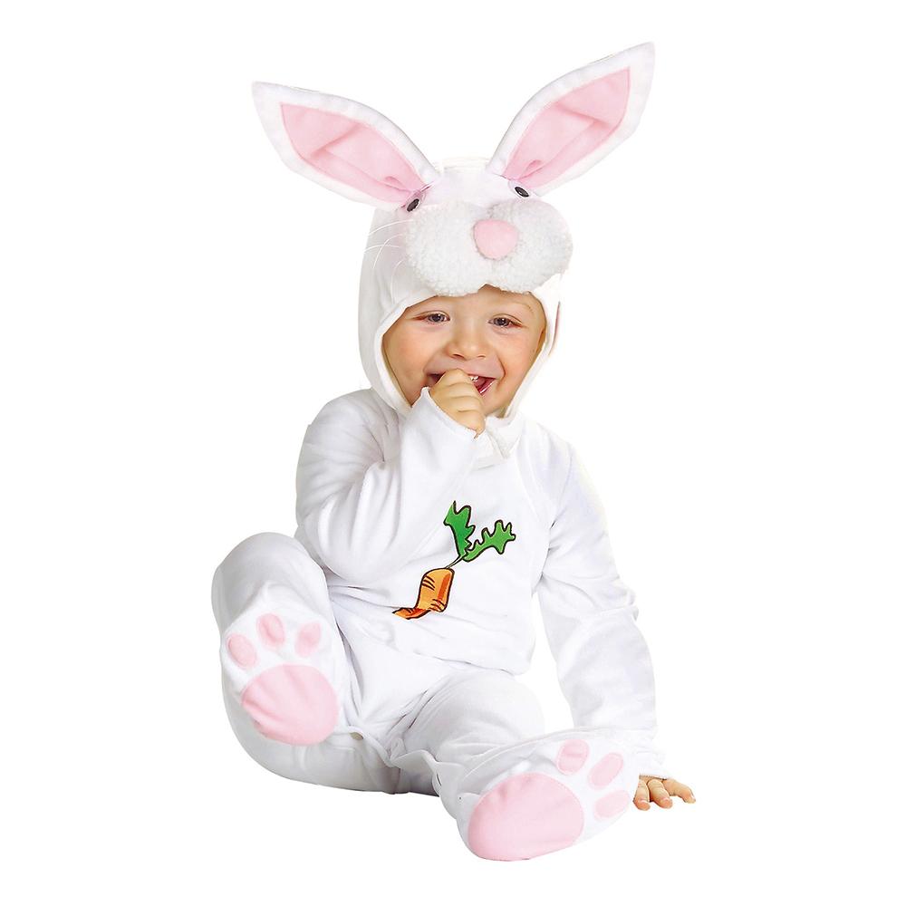 Kanindräkter för bebisar - Vit Kanin Bebis Maskeraddräkt - One size