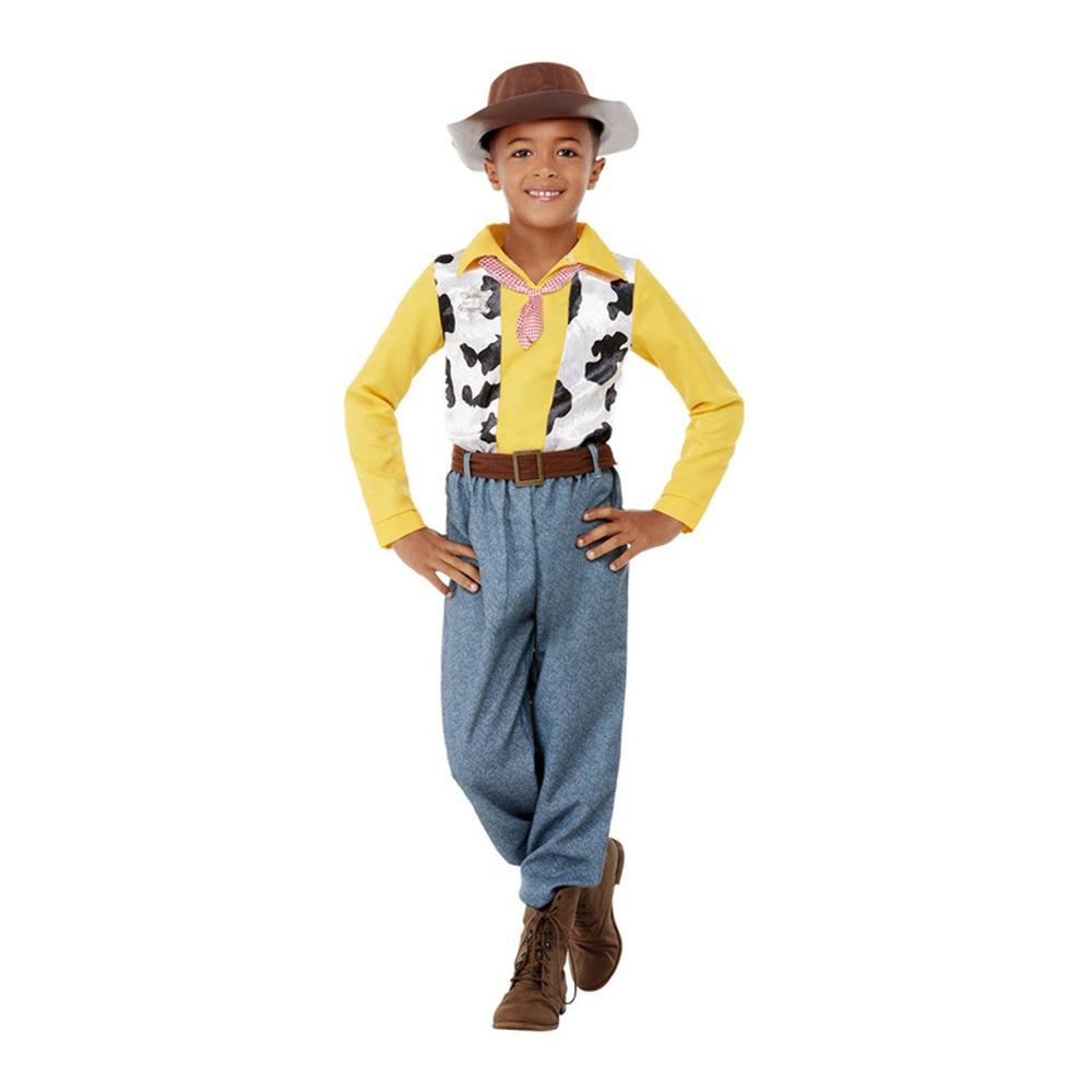 Western Cowboy Barn Maskeraddräkt - Small