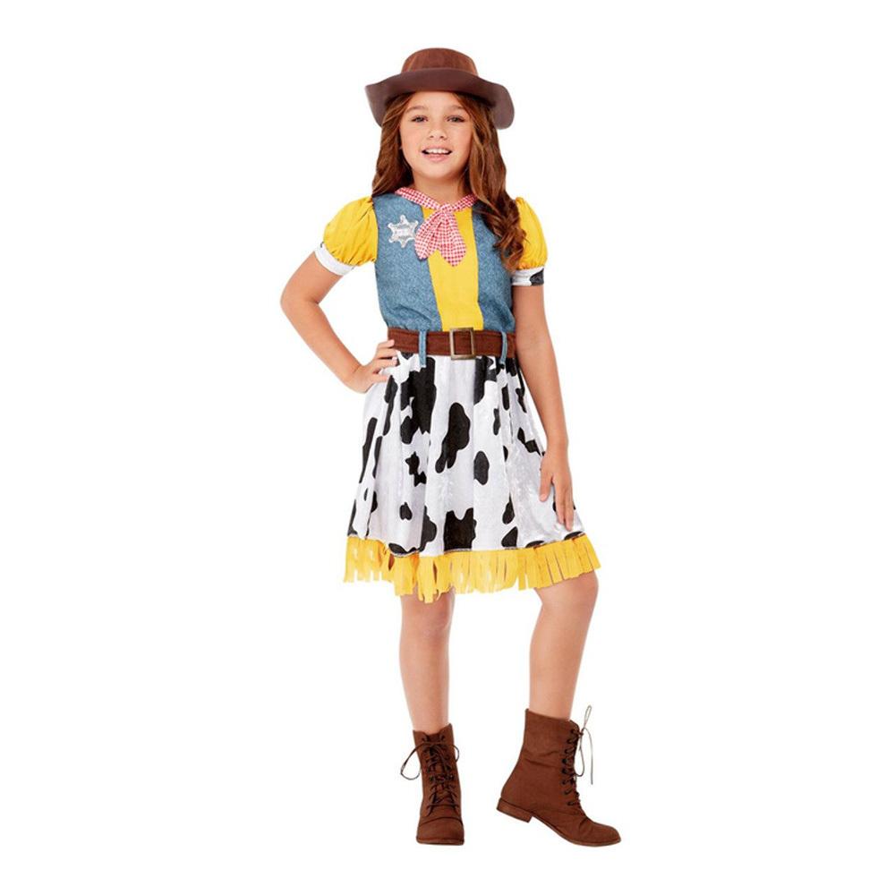 Western Cowgirl Barn Maskeraddräkt - Small