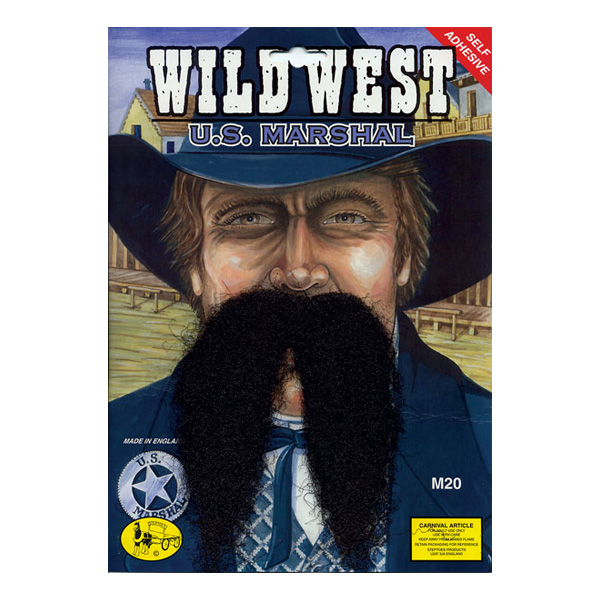 Vilda Västern Sheriff Mustasch