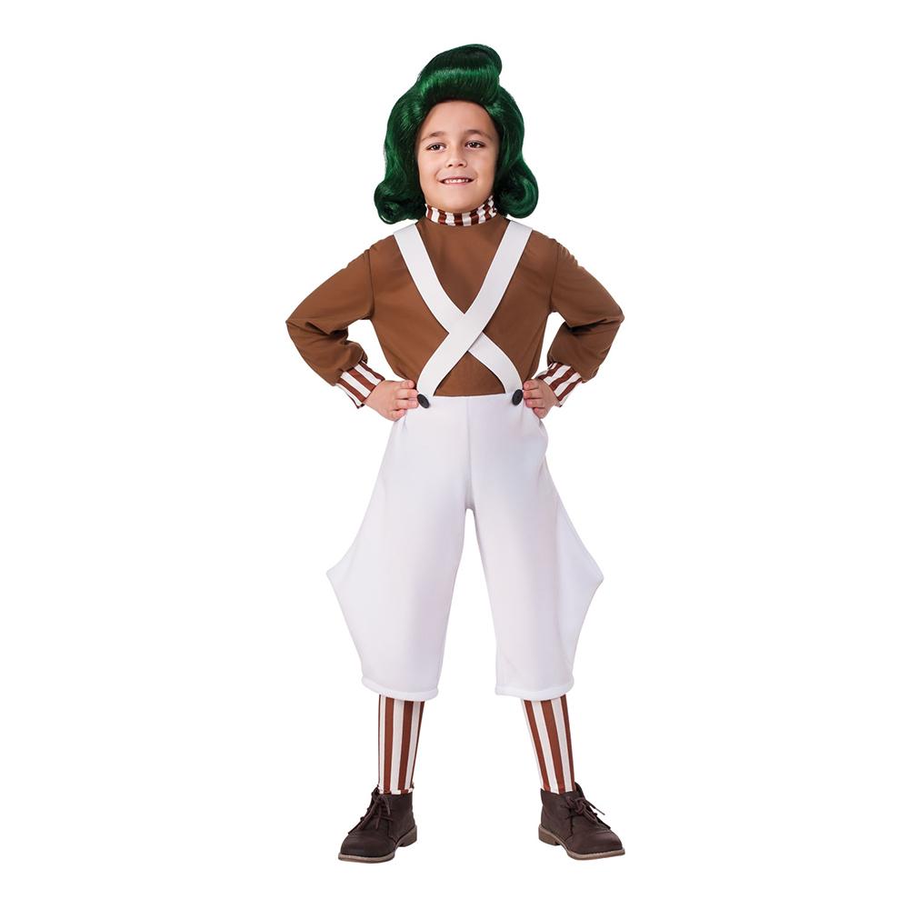 Willy Wonka Oompa Loompa Barn Maskeraddräkt - Large