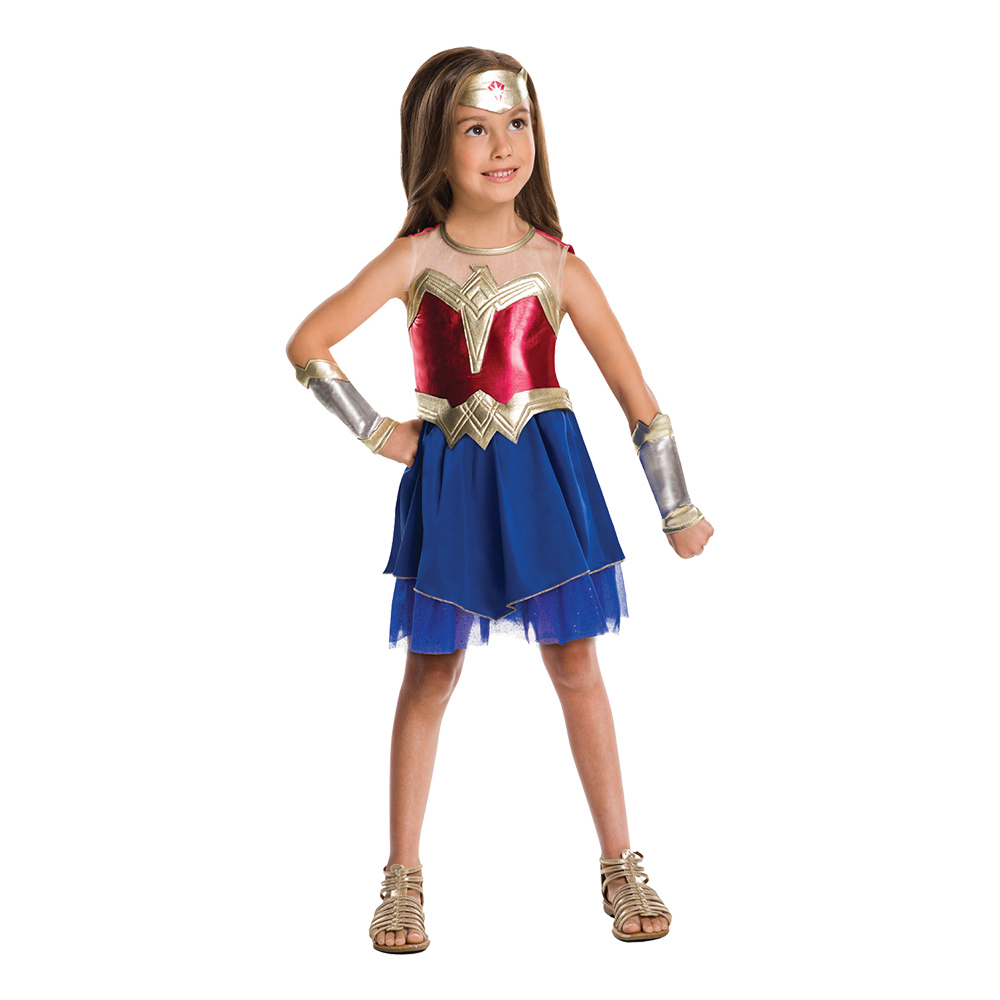 Wonder Woman Justice League Barn Maskeraddräkt - Large