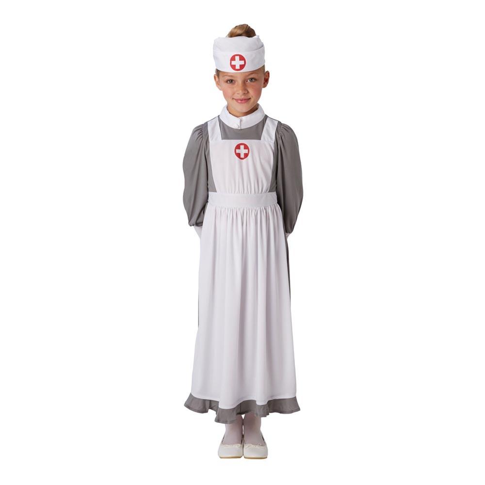 WW1 Sjuksköterska Barn Maskeraddräkt - Medium