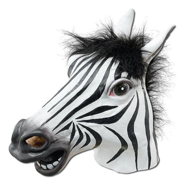 Zebramask i Gummi - One size