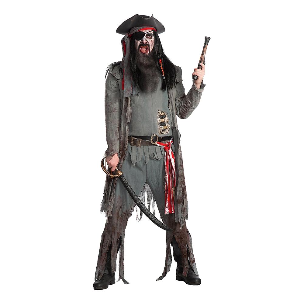 Zombie Pirat Deluxe Maskeraddräkt - Small