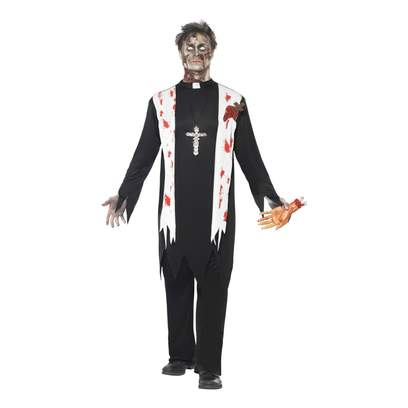 Zombie Präst Maskeraddräkt - Medium