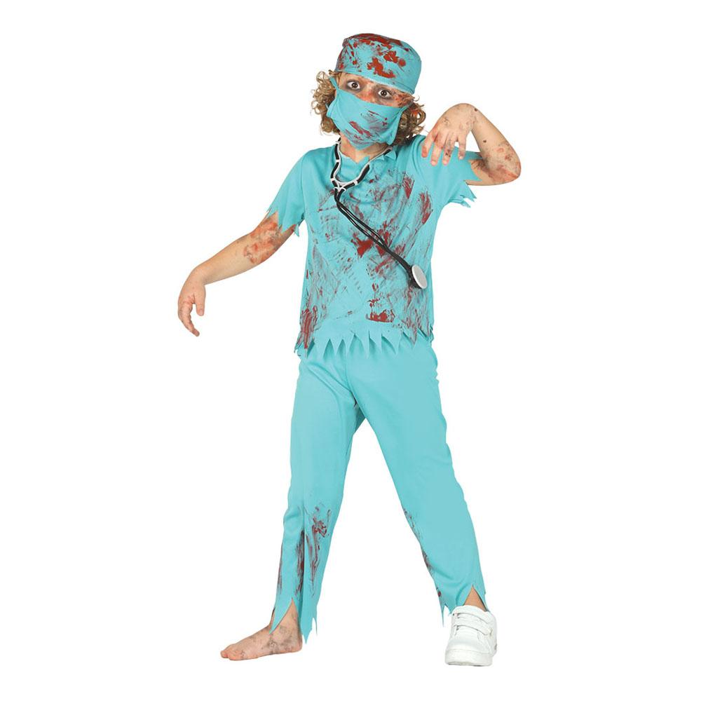 Zombiekirurg Barn Maskeraddräkt - Small