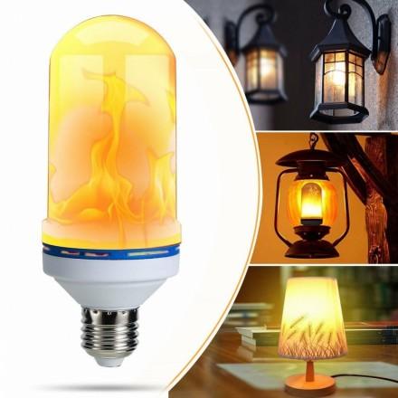 LED lampa med flammande låga e